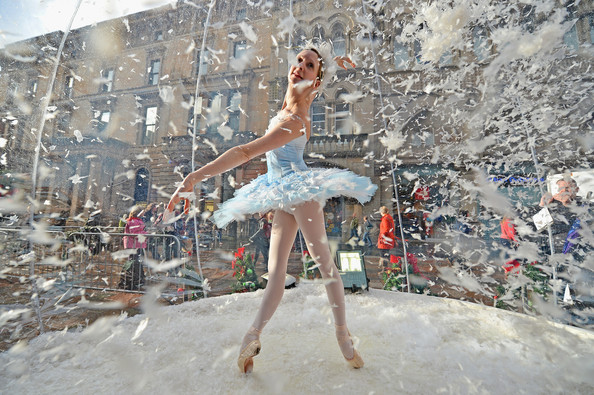 dancer in snow